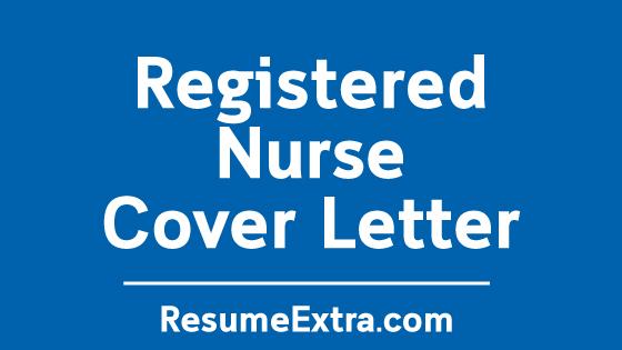 Registered Nurse Cover Letter Sample