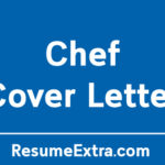 Professional Chef Cover Letter Sample