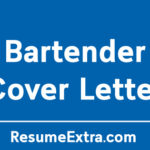 Professional Bartender Cover Letter Sample