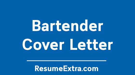 Bartender Cover Letter Sample
