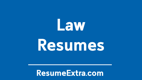 Resume Examples for Law Industry