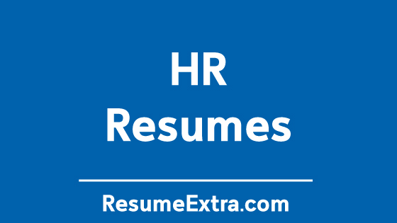 Resume Examples for Human Resources Industry