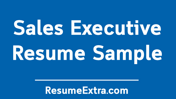 Sales Executive Resume Sample