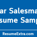 Car Salesman Resume Sample and Required Skills