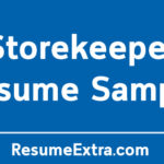 Storekeeper Resume Sample and Required Skills