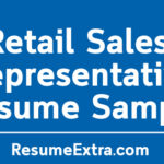 Retail Sales Representative Resume Sample