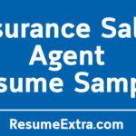 Insurance Sales AgentResume Sample