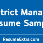 District Manager Resume Sample and Required Skills