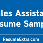 Sales Assistant Resume Sample and Required Skills