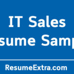 IT Sales Resume Sample and Required Skills