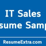 IT Sales Resume Sample