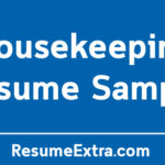 Professional Housekeeping Resume Sample