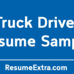 Professional Truck Driver Resume Sample