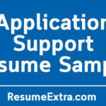 Application Support Resume Sample