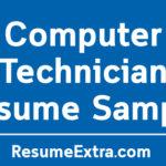 Computer Technician Resume Sample