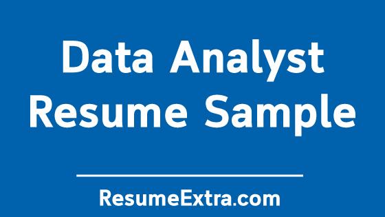 Data AnalystResume Sample