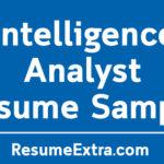 Intelligence Analyst Resume Sample