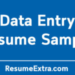 Data Entry Resume Sample