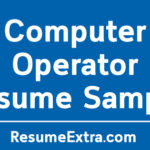 Computer Operator Resume Sample
