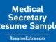 Free and Professional Medical Secretary Resume Sample