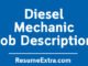 Diesel Mechanic Job Description Sample