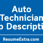 Auto Technician Job Description Sample