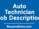 Auto Technician Job Description Sample