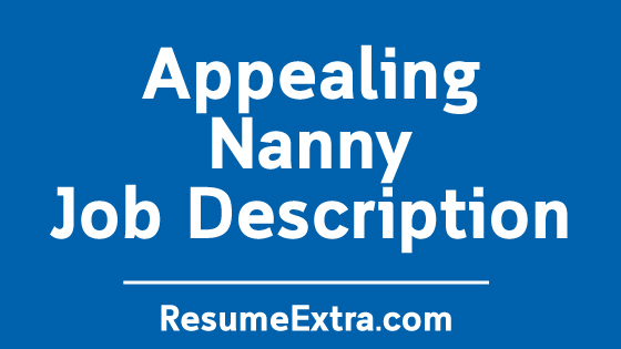 Nanny Job Description Sample