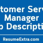Customer Service Manager Job Description Sample