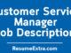 Customer Service Manager Job Description Sample