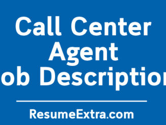 Call Center Agent Job Description Sample
