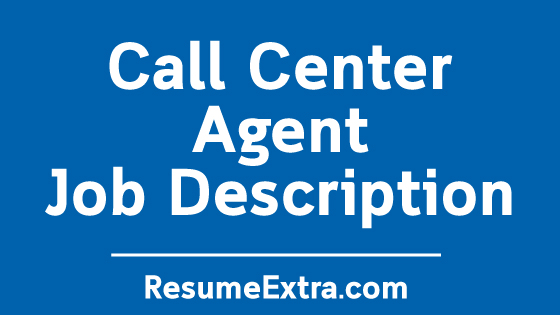 Call Center Agent Job Description Sample