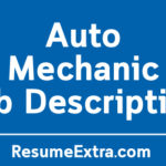 Auto Mechanic Job Description Sample