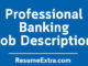 Banking Job Description Sample