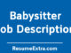 Babysitter Job Description Sample