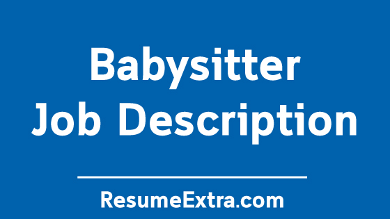 Babysitter Job Description Sample