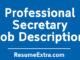 Secretary Job Description Sample