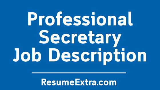 Secretary Job Description Sample