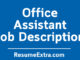 Office Assistant Job Description Sample