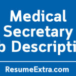 Medical Secretary Job Description Sample