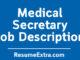 Medical Secretary Job Description Sample