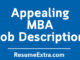 MBA Job Description Sample