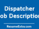 Dispatcher Job Description Sample