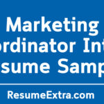 Marketing Coordinator Intern Resume Sample