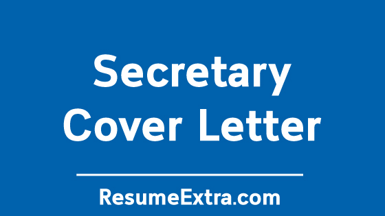 Secretary Cover Letter Sample