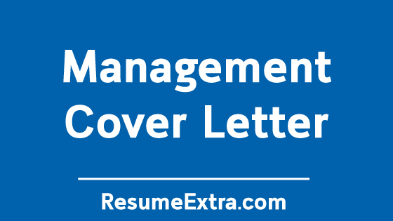 Management Cover Letter Resume Sample