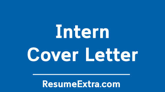Intern Cover Letter Sample