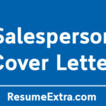 Appealing Salesperson Cover Letter Sample