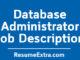 Database Administrator Job Description
