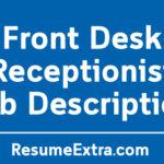 Front Desk Receptionist Job Description Sample
